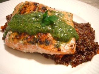 moroccan-steamed salmon with quinoa & carrots