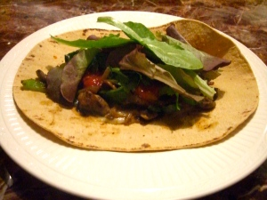 poblano and mushroom wraps - viva catalina