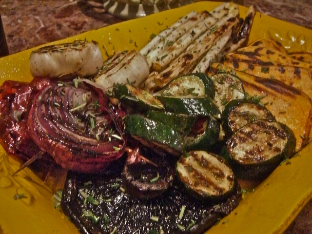 viva catalina - grilled summer vegetables